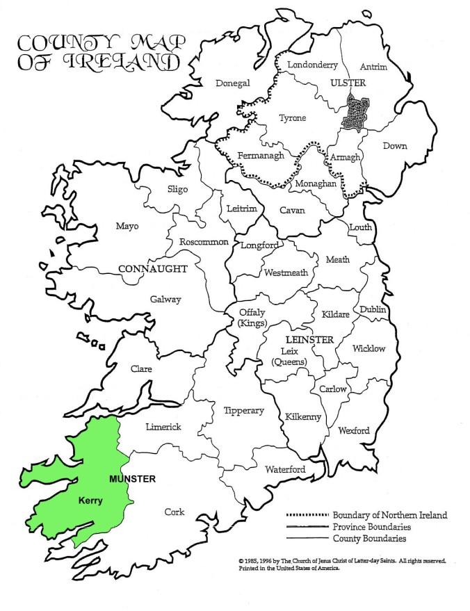 County_Kerry_Map_Ireland