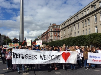 Refugees welcome parade